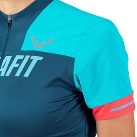 Dynafit Ride Koszulka rowerowa z zamkiem błyskawicznym Kobiety, niebieski/turkusowy